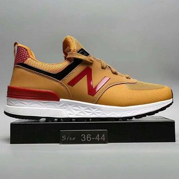 ONETOW new balance fashion casual all match n words breathable couple sneakers shoes brown g a0 hxydxpf