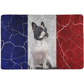 French Bulldog Live Forever Flag All Over Pet Placemat