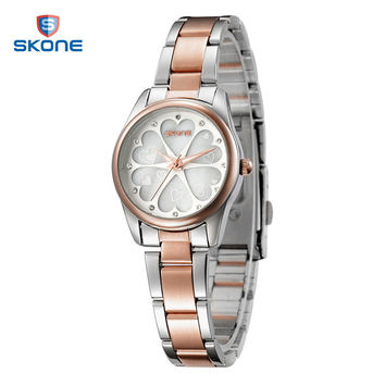 SKONE Watch Woman Luxury Brand Wrist Watches Flower Rhinestone Female Quartz Watch for Women Clock Ladies Watch Reloj Mujer
