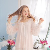 Melody Fair Modal Lace Comfy Vintage Style Night Suit Women