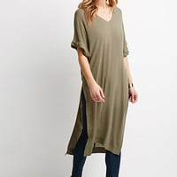 Crepe High-Slit Tunic