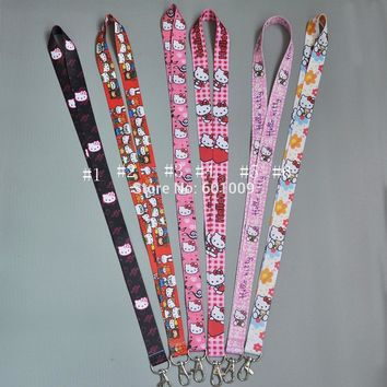 Free Shipping Hello Kitty Lanyard Keys ID Cell Phone Neck Strap PCXB