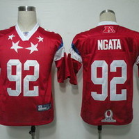 Special Price 2011 Pro Bowl Baltimore Ravens 92 Ngata Red Jerseys - Online Coupons Discount For Cheap