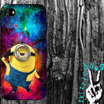 Galaxy Space Despicable Me Quote Apple iPhone 4/4S and 5 Cell Phone Case Cover Original Trendy Stylish Design