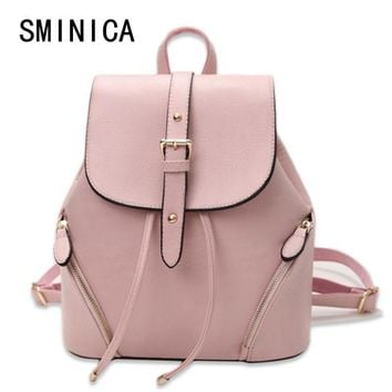 casual leather women's backpack schoolbag female backpacks women preppy style High quality rucksack sweet ladies knapsack S01243