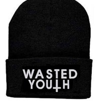 Lengendy Wasted Youth Beanie Knit Hat Amanda Bynes Lindsay Lohan Britney Spears Paris Hilton
