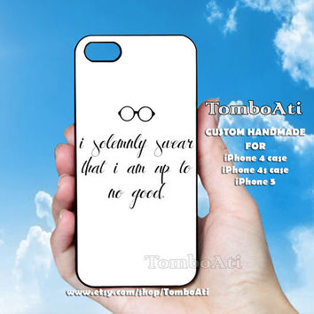 i solemnly swear that i am harry potter - Print on Hard Cover For iPhone 4/4S and iPhone 5 Case