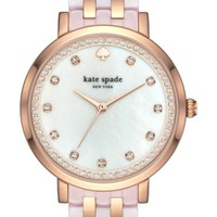kate spade new york monterey crystal dial bracelet watch, 38mm | Nordstrom