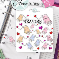 Sticker Sheet Teabag Kawaii Erin Condren, Happy Planner, Filofax, Kikki K -NR192