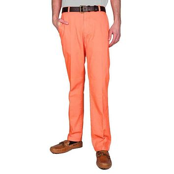 Trim Fit Skipjack Pants in Fusion Coral by Southern Tide