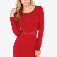 LULUS Exclusive Cute Be Told Wine Red Dress
