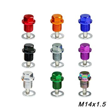 M14*P1.5MM Engine Dress Up Magnetic Oil Drain Plug Package Oil Sump drain plug For Most Honda Acura Mitsubishi Ford GM