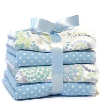 Baby wash cloth set - children's wash cloths - ladies facial cloths - kids wash rags - gifts for ladies - baby layette -  boy gifts - girl