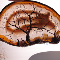 Wire Tree Of Life Spirit sculpture Brazil Natural by CrowsFeathers