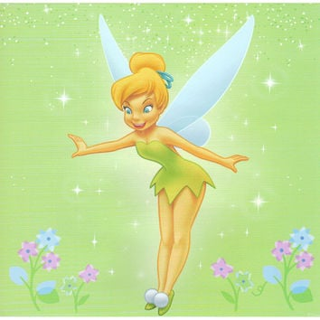 Disney Tinkerbell Self - Stick 44Pc Wall Sticker Accent Kit
