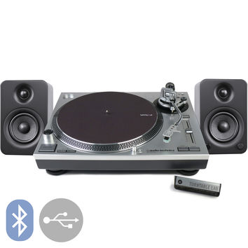 Audio-Technica: AT-LP120-USB Turntable + Kanto YU3 Speakers Package