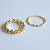 Kate Ring Set - Gold