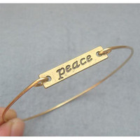 Peace  Bangle Bracelet Style 2