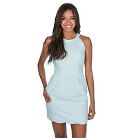 The Landry Seersucker Dress in Mint by Lauren James