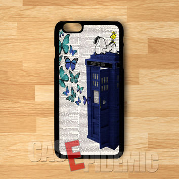 Snoopy tardis - Fzi for iPhone 6S case, iPhone 5s case, iPhone 6 case, iPhone 4S, Samsung S6 Edge