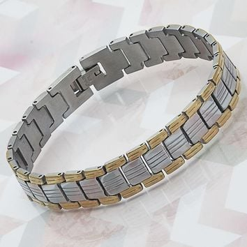 Stainless Steel Men Solid Bracelet, by Folks Jewelry