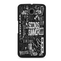 5 Seconds of Summer Songs Collage Black For Nexus 6 Case
