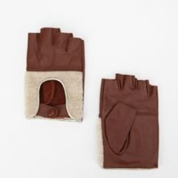UrbanOutfitters.com > Deena & Ozzy Sherpa Leather Moto Fingerless Glove