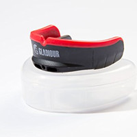 "MOUTH GUARD - ""Premium"" Black & Red Mouthguard for Sports with Case. BEST for Hockey, Football, Boxing, MMA, Basketball, Baseball, Muay Thai, & Karate! - Top Protection & Comfort - With Guarantee"