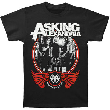Asking Alexandria Men's  FDTD Band Photo T-shirt Black Rockabilia