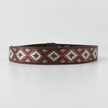 Crossed Beads Belt by Anthropologie Red S Belts