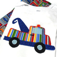 Baby Boy Clothes - Baby Boy Shorts and shirt - Boy Summer Outfit - Tow Truck