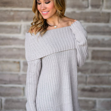 Cold Rush Off the Shoulder Sweater