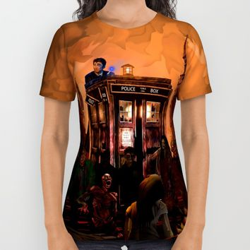 10th Doctor who trapped in the zombie land iPhone 4 4s 5 5s 5c, ipod, ipad, pillow case and tshirt All Over Print Shirt by Three Second