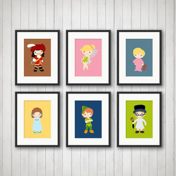 Neverland Prints, Boys Room Decor, Peter Pan Decor, Kids Room Decor, Nursery Decor, Girls Room Decor, Neverland Decor, 5x7 or 8x10 Prints