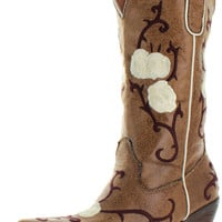 Nomad Buck Women's Western Cowboy Boots
