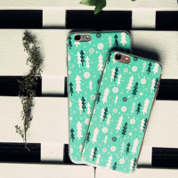 Snowy Tree Printed Case for iPhone