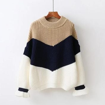 Winter Pull Sweaters Women 2017 Fashion Loose Jumpers Korean Pullovers Knitting Pullovers Thick Christmas Sweater