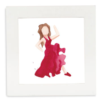 Dancer Emoji Framed Art