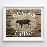 farmhouse wall art, printable wall sign, rustic wood sign