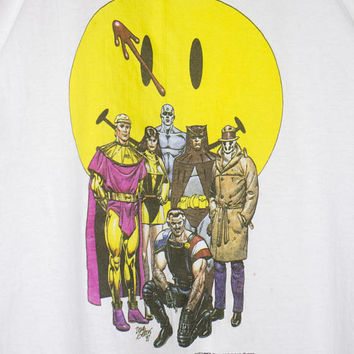 1988 WATCHMEN t shirt - vintage 80s - comic book - graphic novel - comics - alan moore - dave gibbons