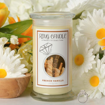 French Vanilla Ring Candle (Pick Your Ring Size)