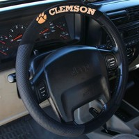 NCAA Clemson Tigers Poly-Suede Steering Wheel Cover