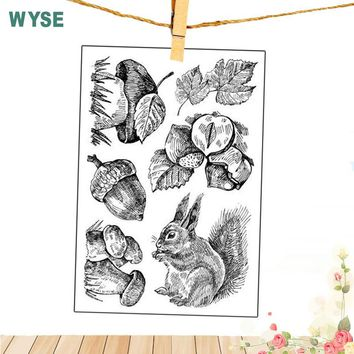 2018 new Kid Stamps Animal Owl Squirrel stamps Easter Rabbit Clear stamps Silicone transparent stamp for Scrapbooking DIY tools