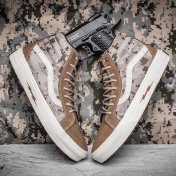 CREYONS Trendsetter Vans Syndicate SK8 Hi Defcon Camouflage Canvas Sneakers Sport Shoes