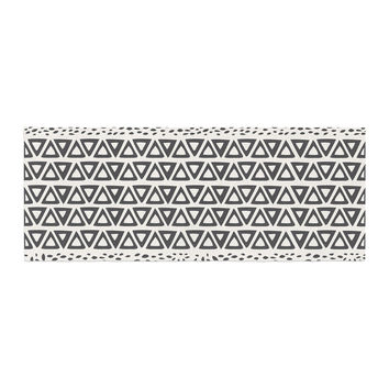"Pom Graphic Design ""Wind Day"" White Black Bed Runner"
