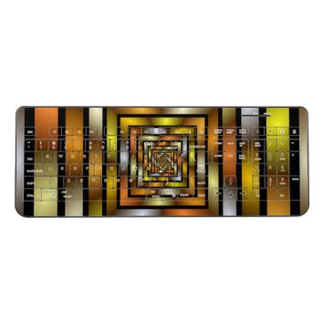 Luminous Tunnel Colorful Graphic Fractal Pattern Wireless Keyboard