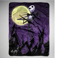 Nightmare Before Christmas 'Pumpkin King' Fleece Blanket