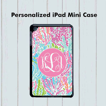 iPad Mini Monogram Lilly Pulitzer Inspired Case Personalized iPad Mini Case