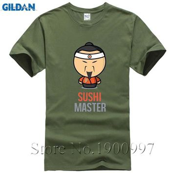 O-neck Sushi Master T Shirts Male Short Sleeve Men's T Shirt Slim FitT Shirt Discount 100 % Cotton T Shirt For Men'SMiddle Aged
