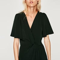 DRESS WITH KNOTTED WAIST DETAILS